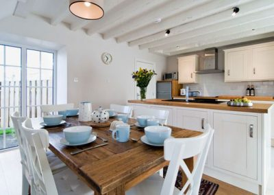 The kitchen & dining area @ Bryher Cottage
