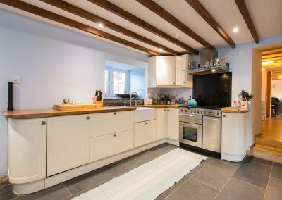 The kitchen at Bubble Cottage, Watergate Bay