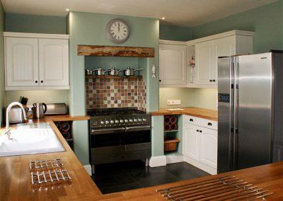 The kitchen at Buddleia, West Charleton