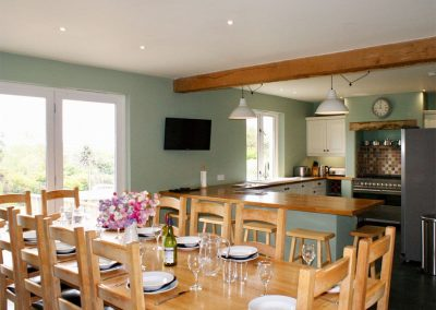 The dining area at Buddleia, West Charleton
