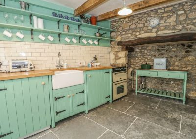 The kitchen at Bulls Court House, Colyton