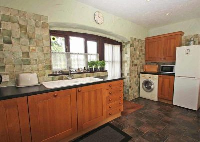 The open-plan kitchen at Byre Cottage, Bridge