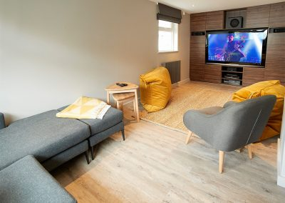 The cinema room at Captain's House, Marazion