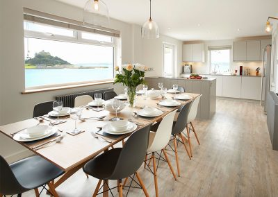 The dining area at Captain's House, Marazion