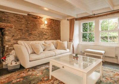 The first living room at Cardwen Farmhouse, Pelynt