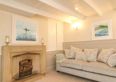The second living room at Cardwen Farmhouse, Pelynt