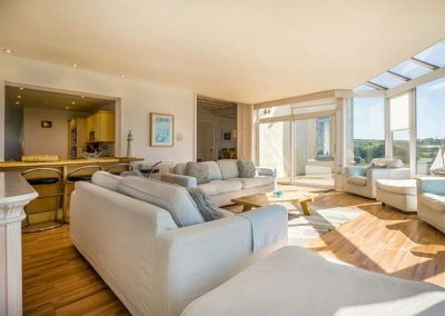 The living area at Carn Eve, Sennen Cove