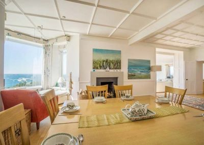The dining area at Carn Eve, Sennen Cove