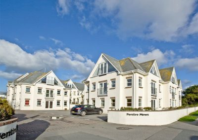 Outside Carvell's Penthouse, Pentire Mews, Newquay
