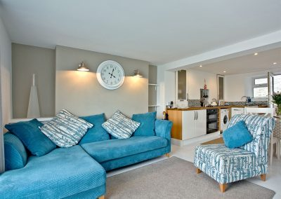The living area at Castaway Cottage, Brixham