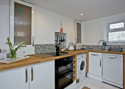 The kitchen at Castaway Cottage, Brixham