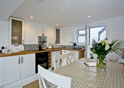 The kitchen & dining area at Castaway Cottage, Brixham