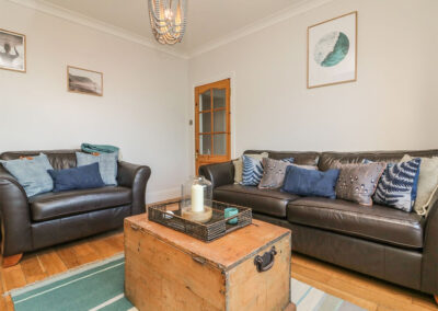 The living room at Cecily Cottage, Westward Ho!