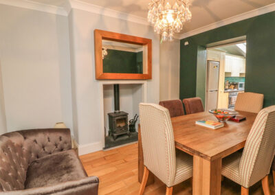 The dining area at Cecily Cottage, Westward Ho!