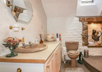The bathroom at Chapel Green, Polgooth