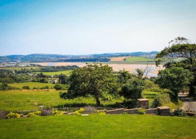 The garden & view from Charlesworth, Ashford