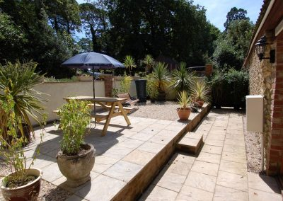 The outdoor patio at Chattan Forge, Abbey Gate