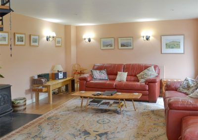 The living area at Cherry Tree Cottage, Bovey Tracey