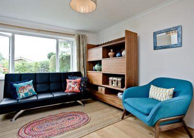 The living area at City Reach, Exeter