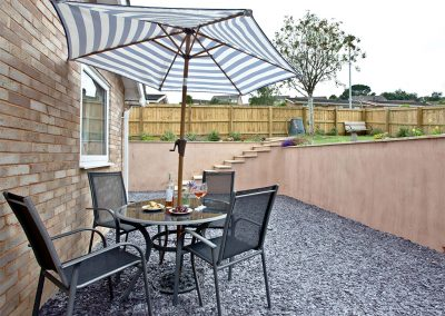 The outdoor patio at City Reach, Exeter