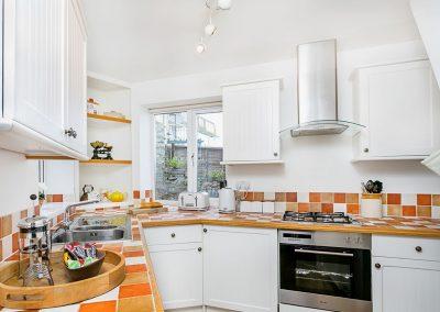 The kitchen at Cliff Cottage, Brixham