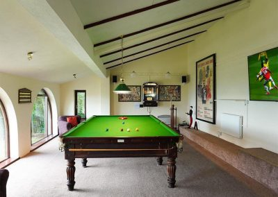 The games room at Cliff Lodge, Maidencombe