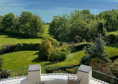 The garden and sea views at Cliff Lodge, Maidencombe