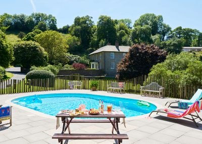The swimming pool at Gitcombe House Country Cottages, Cornworthy