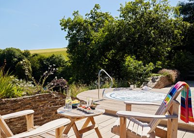 The hot tub at Gitcombe House Country Cottages, Cornworthy