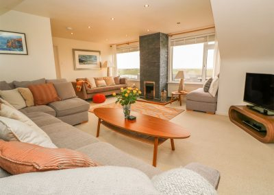 The living area at Coastman's Nest, Trenance