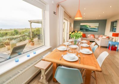 The dining area at Coastman's Nest, Trenance