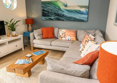 The second living area at Coastman's Nest, Trenance