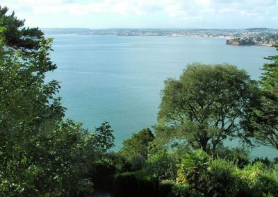 The view from Cockington across Torbay