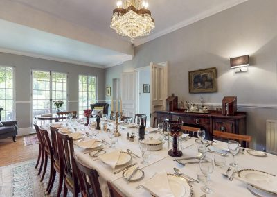 The dining room at Colleton Hall, Rackenford