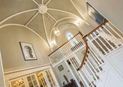 The grand hall & staircase at Colleton Hall, Rackenford