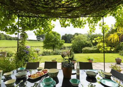 The patio at Colleton Hall, Rackenford