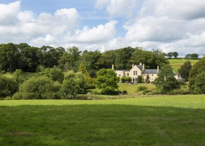 The parkland surrounding Colleton Hall, Rackenford