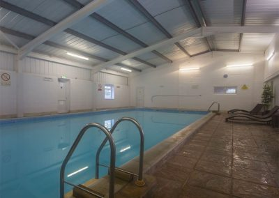 The indoor swimming pool at Columbine Cottage, Poughill