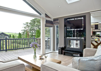 The living area at Combe Lodge, Kentisbury Grange, Kentisbury
