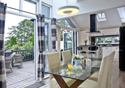 The kitchen & dining area at Combe Lodge, Kentisbury Grange, Kentisbury