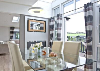 The dining area at Combe Lodge, Kentisbury Grange, Kentisbury