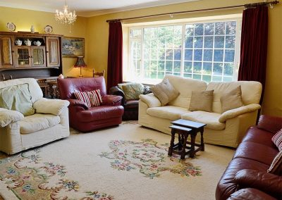The living area at Conifers, Johnstone