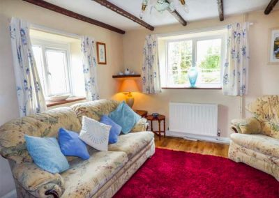 The living area at Court Cottage, Holsworthy