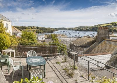 The terrace has fantastic views @ Courtenay Cottage, Salcombe
