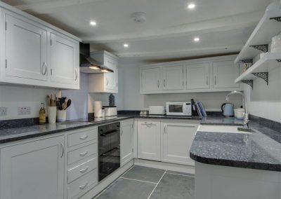 The kitchen at Cousham Cottage, Cawsand