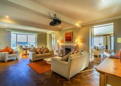 The living area at Cragford, Sennen Cove