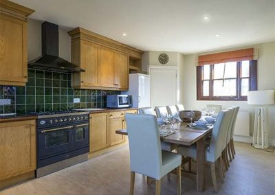 The kitchen & dining area at Cragford, Sennen Cove