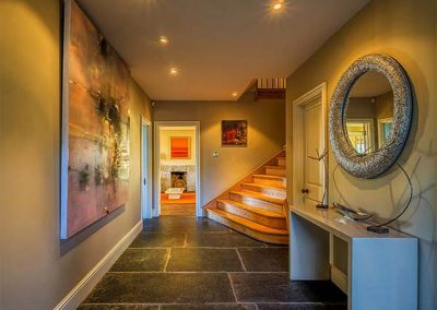 The hallway at Cragford, Sennen Cove