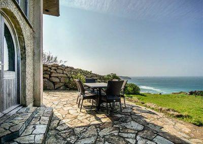 The patio at Cragford, Sennen Cove
