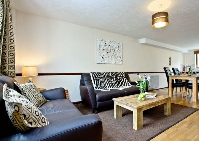 The living area at Cranny Cottage, East Thorne, Kilkhampton